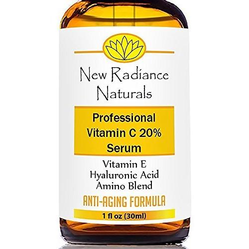 Organic Anti-Aging Vitamin C Serum With 20% Vitamin C + E + 11% Hy...