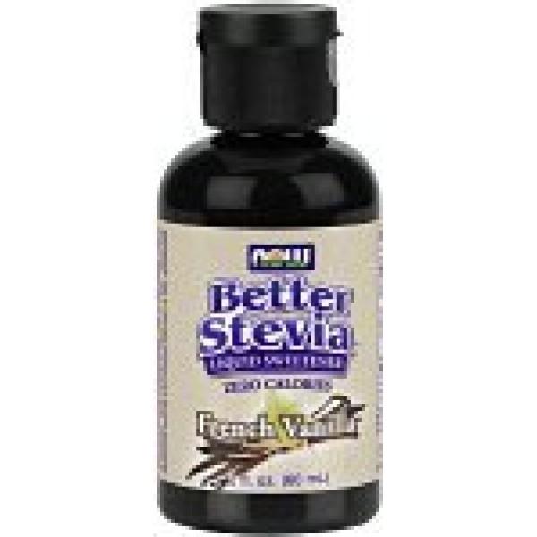 French Vanilla Stevia Liquid Now Foods 2 oz Liquid Pack of 3