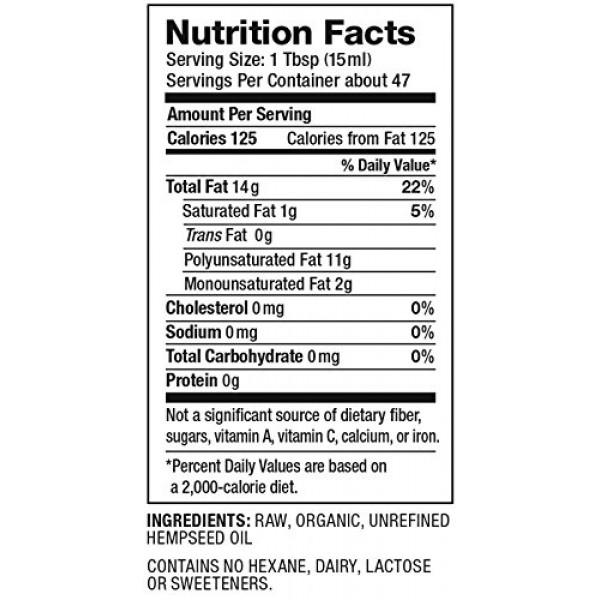 Nutiva Organic Hemp Oil, 24 Ounce
