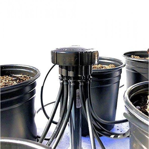 3.3 GPH - 12 Plant Drip Grow Kit - Starter Hydroponics Irrigatio...