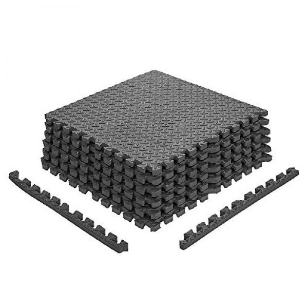 papababe Puzzle Exercise Mat with EVA Foam Interlocking Tiles for ...