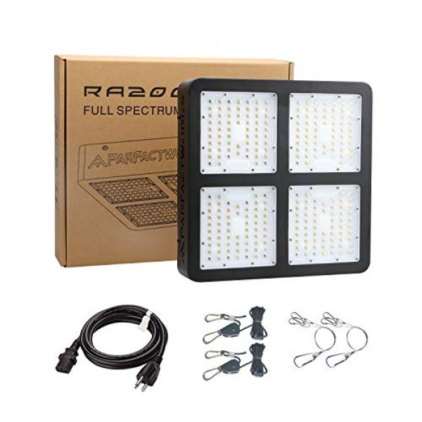 PARFACTWORKS RA2000W Full Spectrum LED Grow Light Growth Lighting ...