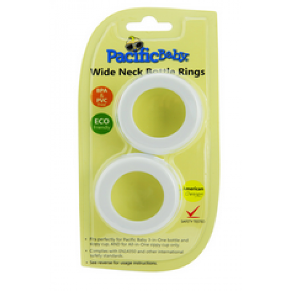 Pacific Baby Inc. White Bottle Rings - 3 pack of 2 each