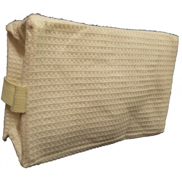Pendergrass Cotton Waffle Cosmetic Bag, Large, Beige