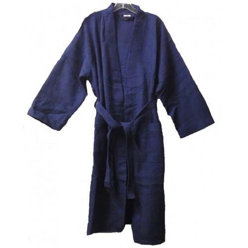 Pendergrass Cotton/Waffle Robe,Navy, 48