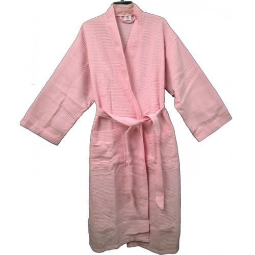 Pendergrass Cotton/Waffle Robe,Pink, 48