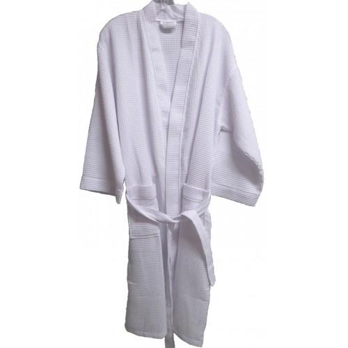 Pendergrass Children's Waffle Robe, White, Large 10-12