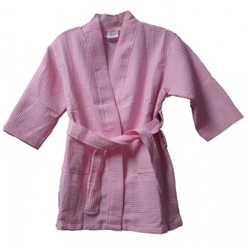 Pendergrass Children's Waffle Robe, Pink, Medium (6-8)
