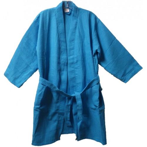 Pendergrass 36 Length Waffle Robe, Tropical Blue, Junior Size