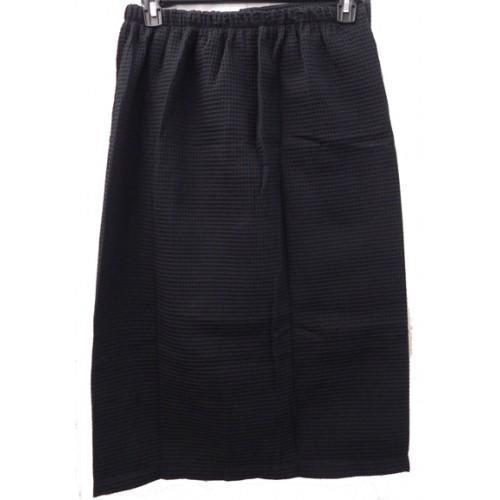 Pendergrass Cotton/Waffle Wrap, Black, 60/40