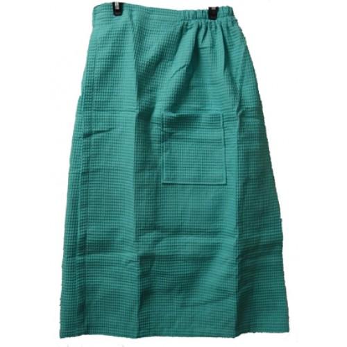 Pendergrass Cotton/Waffle Wrap,Caribbean Green, 60/40