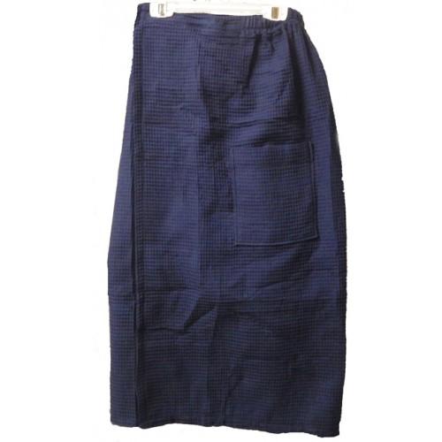 Pendergrass Cotton/Waffle Wrap,Navy, 60/40