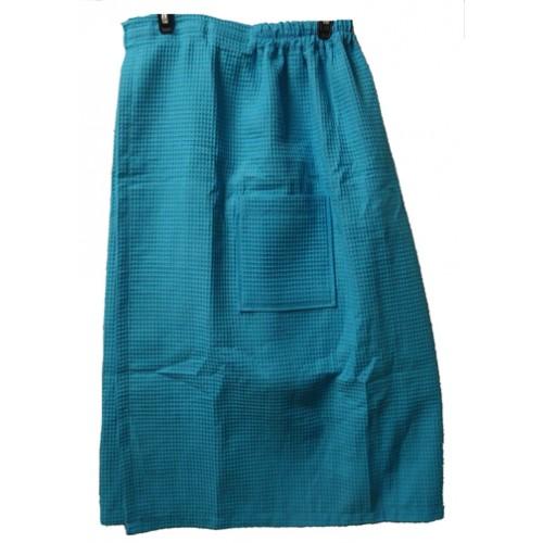 Pendergrass Cotton/Waffle Wrap,Tropical Blue, 60/40
