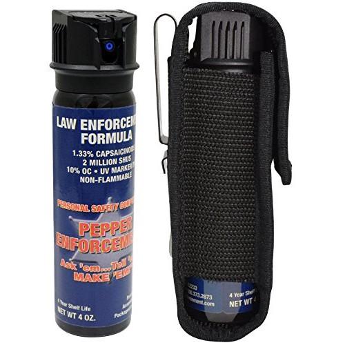 Pepper Enforcement 4 oz  Splatter Stream Police Strength 10% OC Sp