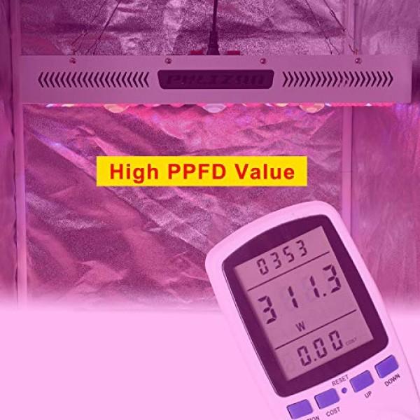 Phlizon CREE COB Series 1500W LED Plant Grow Light Full Spectrum I...
