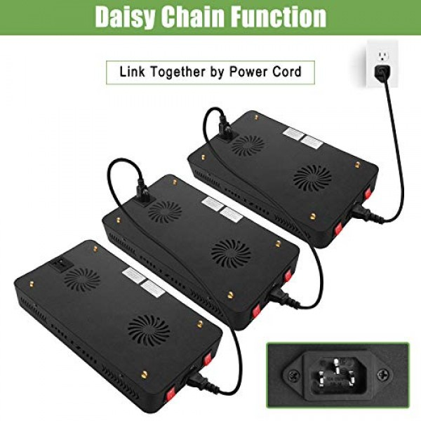 Phlizon Newest 900W LED Plant Grow Light,with Thermometer Humidity...