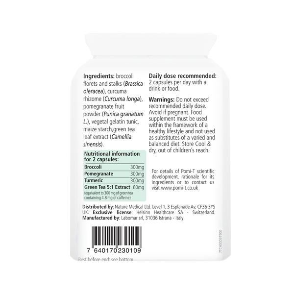 Pomi-T Polyphenol Food Supplement 60 Caps 1PK