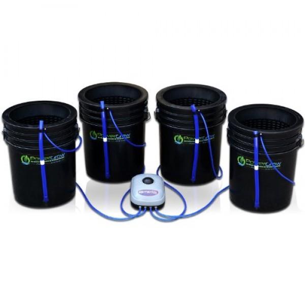 Deep Water Culture DWC Hydroponic Bubbler Bucket Kit by PowerGro...