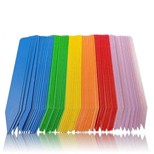 Color Plant Labels - Pack of 90 Multi-Colored Plant Markers, Plant...