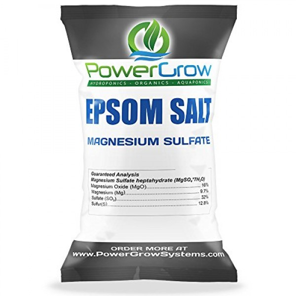 Epsom Salt Magnesium Sulfate Agricultural Grade Bulk 25 Pounds