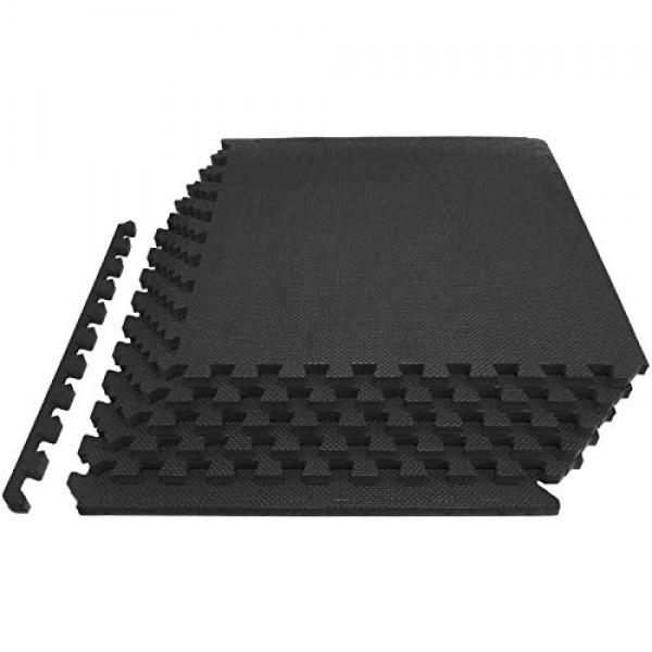 ProsourceFit Extra Thick Puzzle Exercise Mat ¾, EVA Foam Interlock...