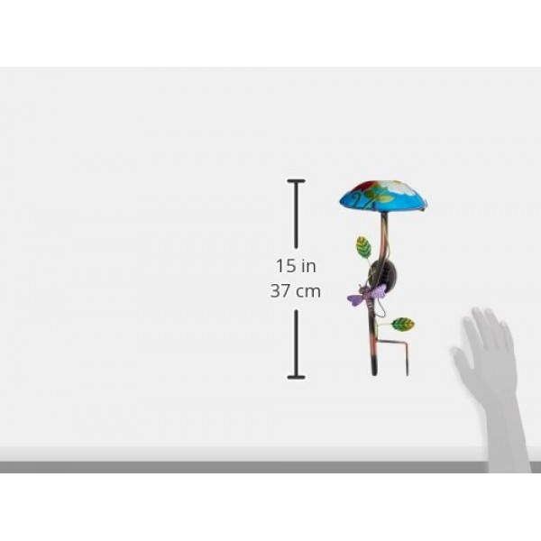 Regal Art Gift Solar Mushroom Stake Dragonfly Garden