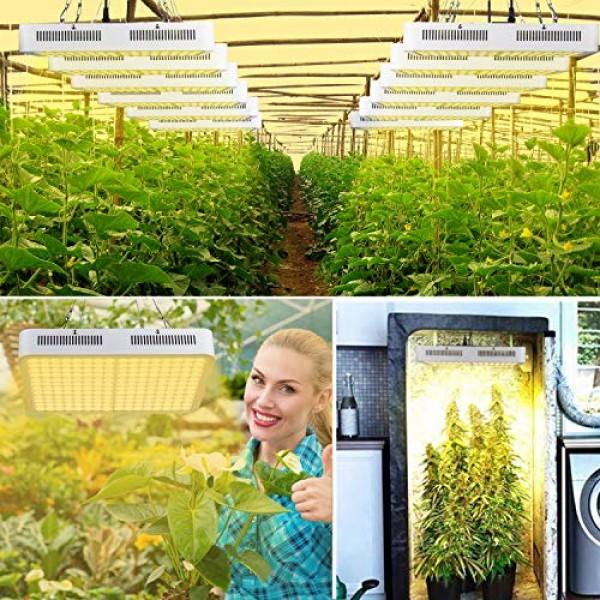 LED Grow Light, Roleadro 1500W Grow Light 3500k Sunlike Plant Ligh...