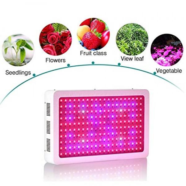 Roleadro 2000W LED Full Spectrum Grow Lights for Indoor Plants, Gr...