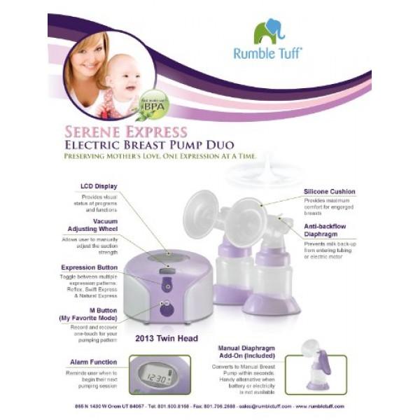 Rumble Tuff Electric Breast Pump Duo, Serene Express