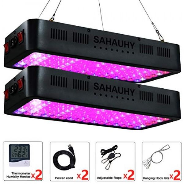2-Packs 1000W LED Grow Light with Lens,SAHAUHY Full Spectrum Plant...