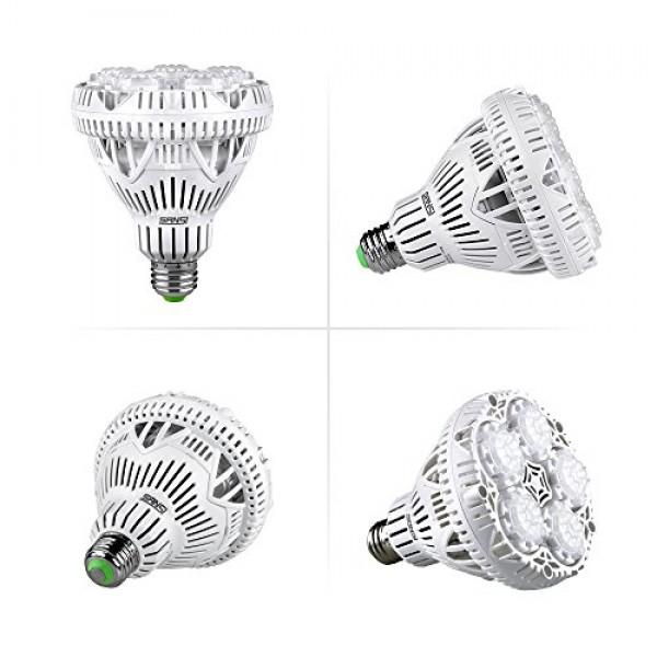 SANSI 24W LED Plant Light Bulb Full Spectrum LED Grow Light Plant ...