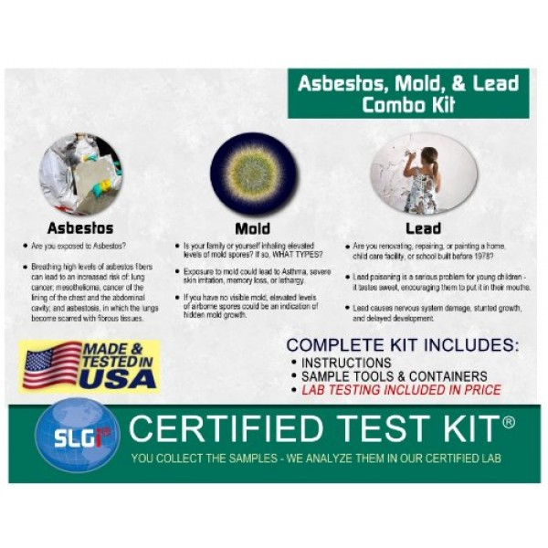 Schneider Labs Asbestos, Lead, and Mold Combo Test Kit (1 Bus  Day)