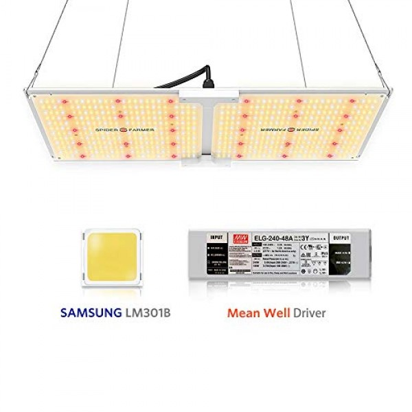 Spider Farmer SF-2000 LED Grow Light with Samsung Chips LM301B & D...