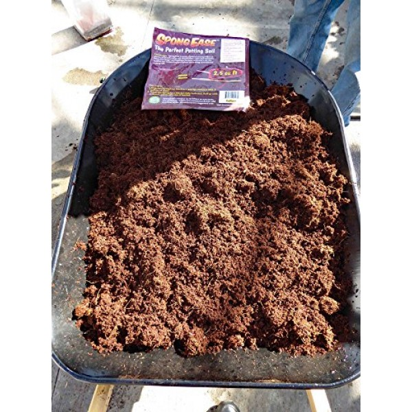 SpongEase Coconut Coir Compressed Block expands up to 18.7 Gallons...