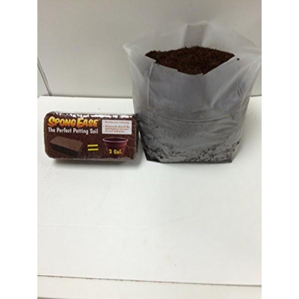 SpongEase Potting Soil Coconut Coir Brick, Makes 2gal for seedling...