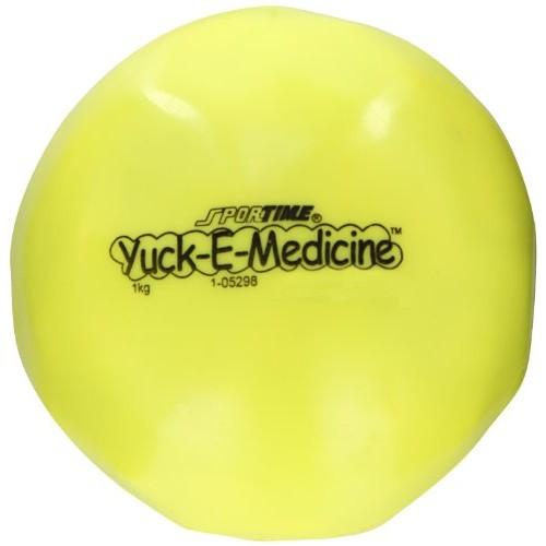 Abilitations Yuk-E-Ball Medicine Ball - 2.2 lbs (1kg) 5 inch Diame...