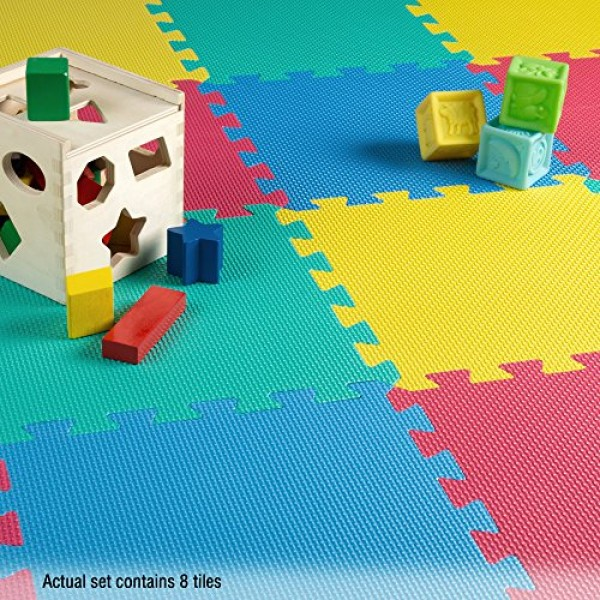 Foam Mat Floor Tiles, Interlocking EVA Foam Padding by Stalwart –...