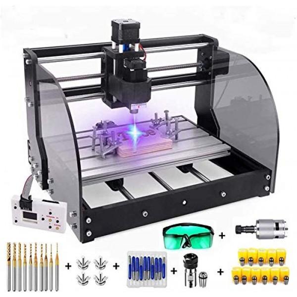 2-in-1 5500mW Laser Engraver CNC 3018pro-M Engravering Machine, GR...