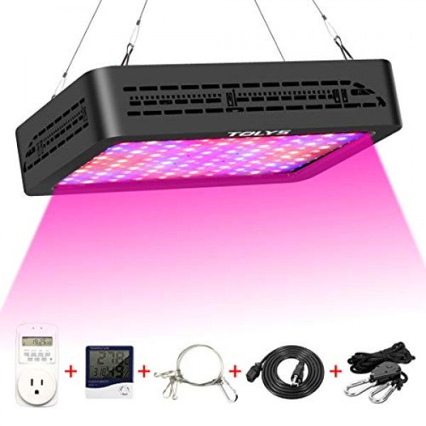 LED Grow Light,TOLYS 2019 Double Switch 1000W Plant Grow Lights wi...