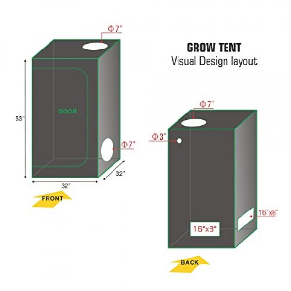 TopoLite Grow Tent Room Complete Kit Hydroponic Growing System LED...