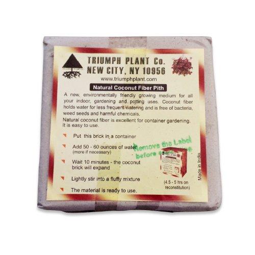 Triumph Plant Coco Coir Bricks - A Natural Additive to Potting Soi...