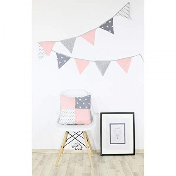 100% Cotton Fabric Bunting Flag Garland Pennant Banner by ULLENBOO...