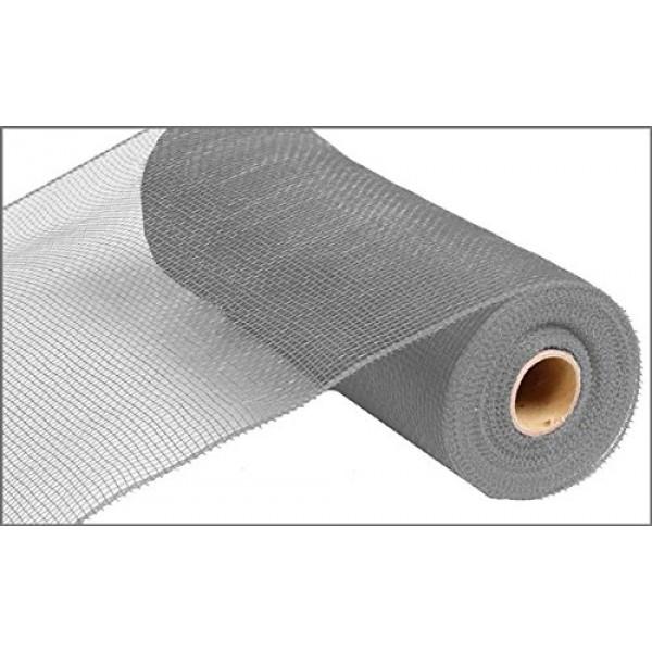 10 inch x 30 feet Deco Poly Mesh Ribbon - Value Mesh Grey