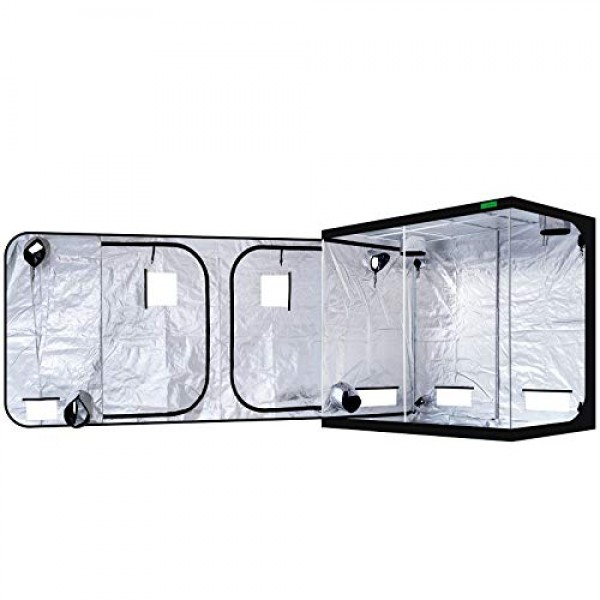 VIPARSPECTRA 96x48x80Mylar Hydroponic Grow Tent with Observatio...
