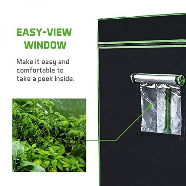 VIVOSUN 48 X48 X 80 Hydroponic Grow Tent + 600W LED Grow Light ...