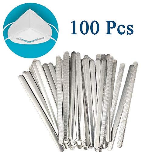 100 PCS Aluminum Nose Strips for Mask 9cm/3.54 Nose Bridge Brack...