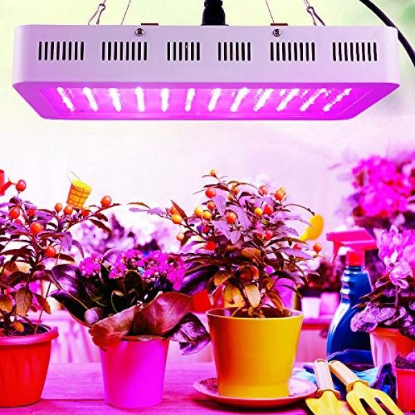 1200W LED Grow Light, WAKYME Adjustable Full Spectrum Double Switc...