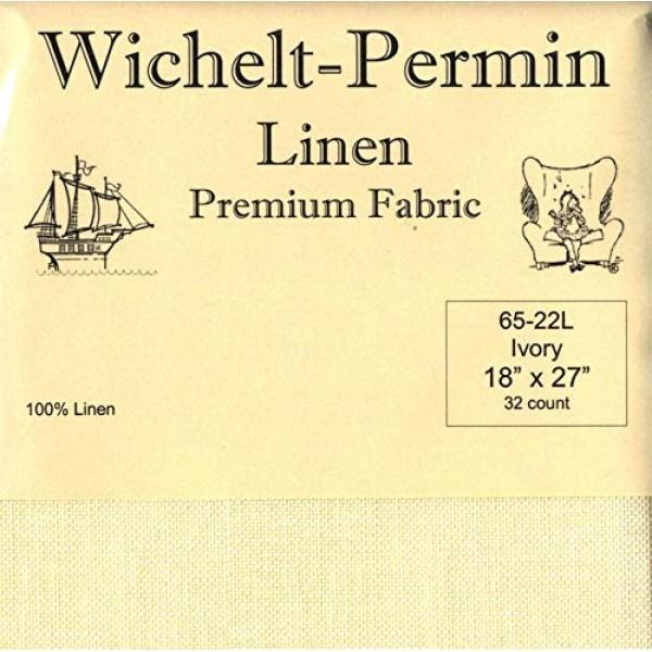 Wichelt-Permin Premium Linen Fabric for Cross Stitch Ivory 32ct 18...