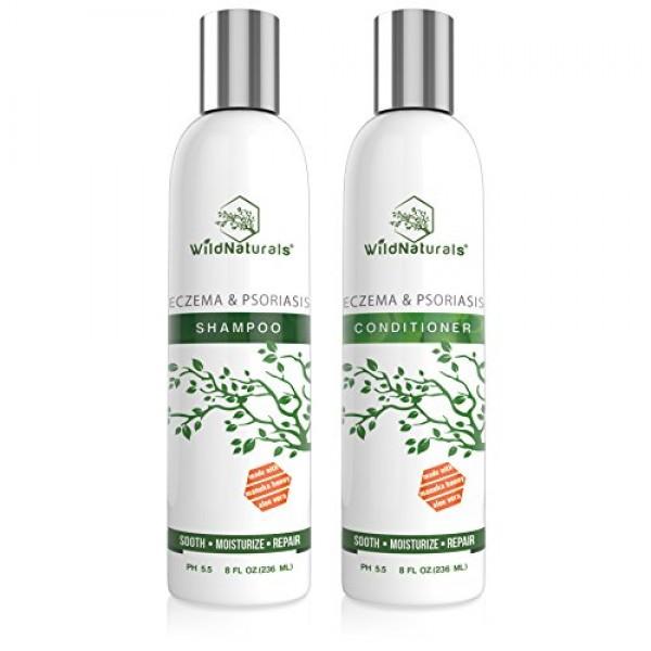 Wild Naturals Eczema & Psoriasis Soothing Shampoo 8oz