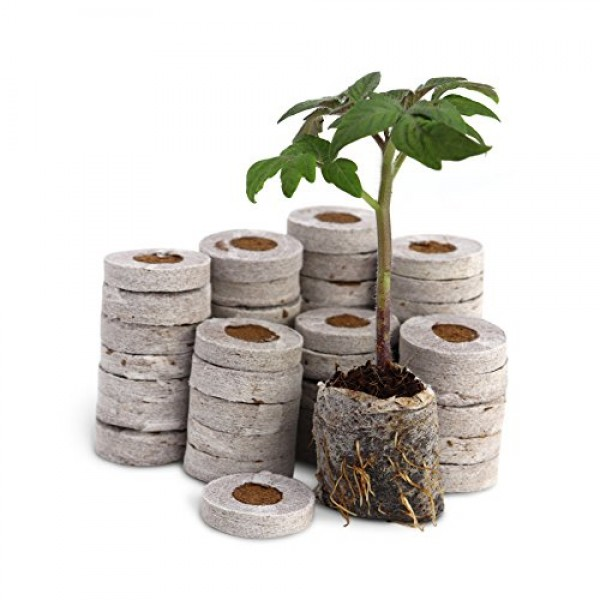 Fiber Soil Direct Plant Seed Starters 36mm - 48 Pods for use wit...